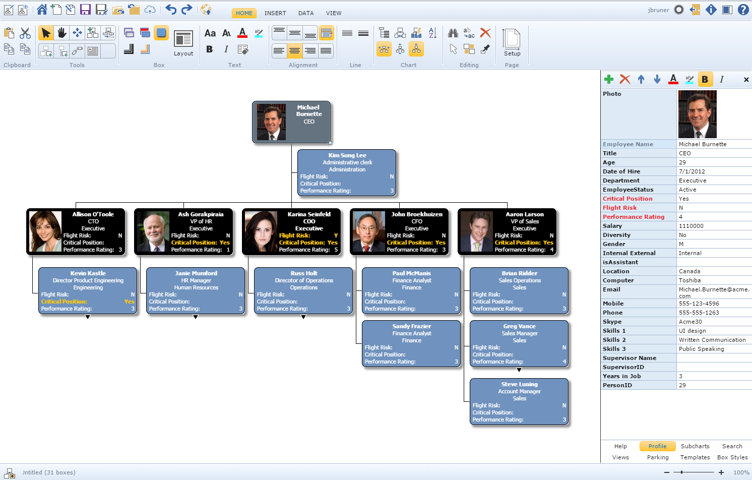 free org chart software trial - Org Charting Software